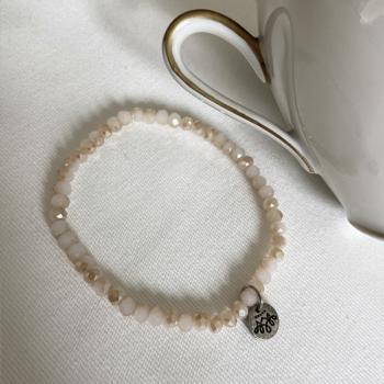 Perlen Armband cremeweiß