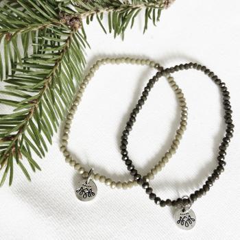 Perlen Armband Set khaki