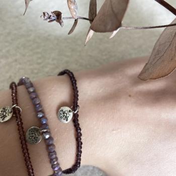 Perlen Armband Set lila