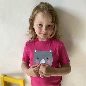 Personalisiertes T-Shirt mit Namen Bär für Kinder und Babys
