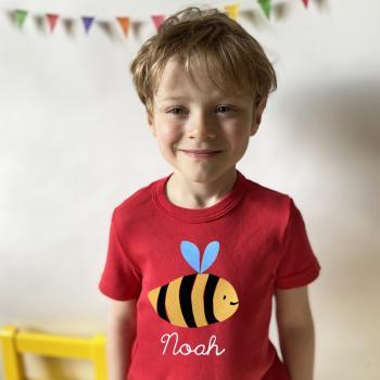 Kinder und Baby T-Shirt Biene mit Namen