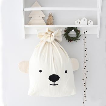 Eisbär Weihnachtssack mit Namen