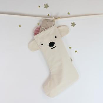 Eisbär Weihnachtsstrumpf mit Namen