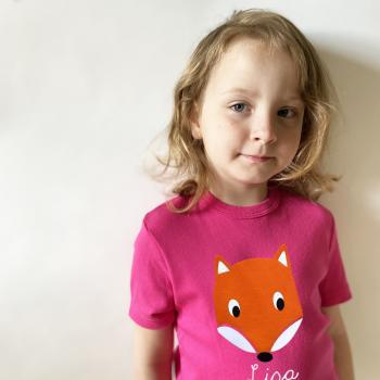 Kinder und Baby T-Shirt Fuchs mit Namen