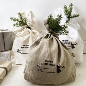 Geschenkesack Set mit Hirsch
