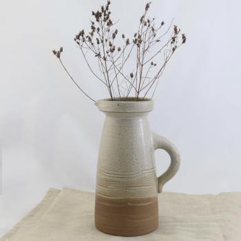 Große Vase in braun handgemacht