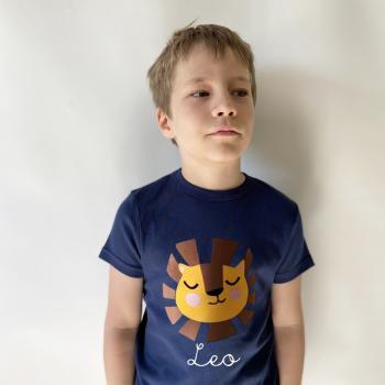 Personalisiertes T-Shirt Löwe für Kinder und Babys mit Namen