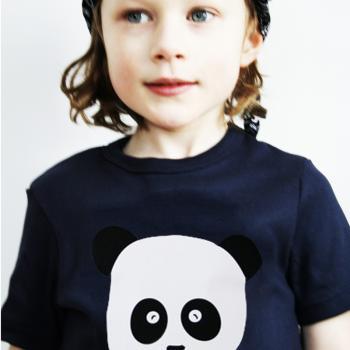 Personalisierbares T-Shirt mit Namen Panda für Kinder und Babys