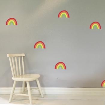 Wandsticker Regenbogen für das Kinderzimmer
