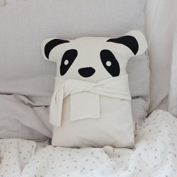 Zierkissen Panda mit Schal